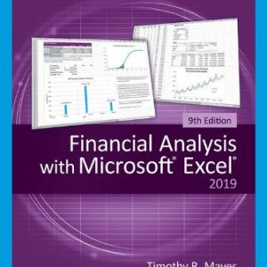 Solution Manual for Financial Analysis with Microsoft Excel, 9th Edition Mayes