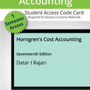 Solution Manual for Horngren's Cost Accounting, 17th Edition Datar