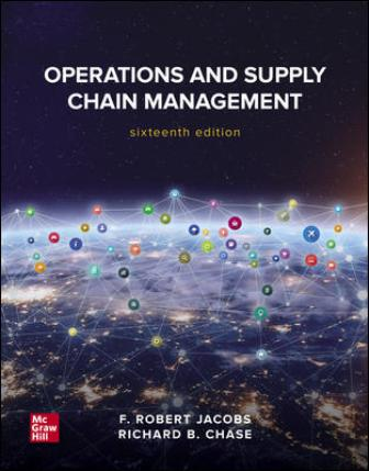 Test Bank for Operations and Supply Chain Management 16th Edition Jacobs
