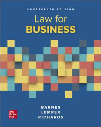 Test Bank for Law for Business, 14th Edition Barnes