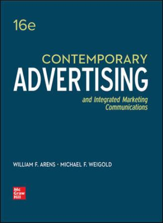 Test Bank for Contemporary Advertising, 16th Edition Arens