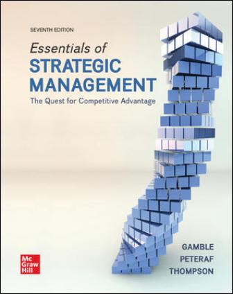 Test Bank for Essentials of Strategic Management: The Quest for Competitive Advantage, 7th Edition Gamble