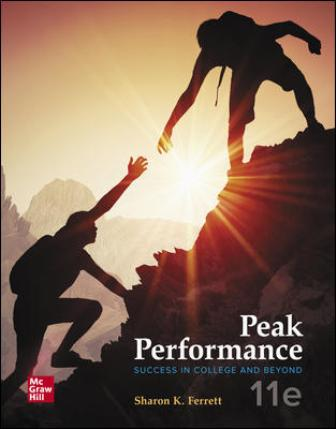 Test Bank for Peak Performance: Success in College and Beyond, 11th Edition Ferrett