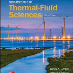 Solution Manual for Fundamentals of Thermal-Fluid Sciences, 6th Edition Cengel