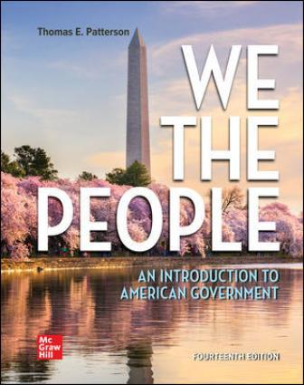 Test Bank for We The People, 14th Edition Patterson