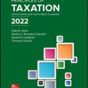 Solution Manual for Principles of Taxation for Business and Investment Planning 2022 Edition, 25th Edition Jones