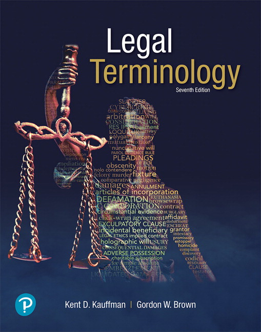 Test Bank for Legal Terminology, 7th Edition Kauffman