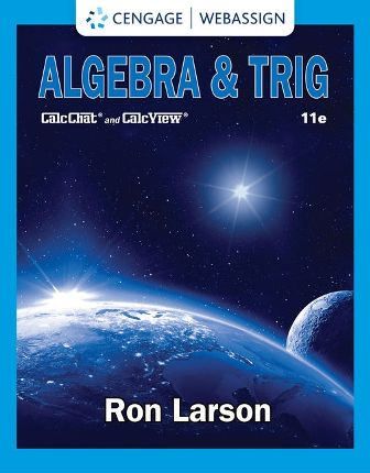 Solution Manual for Algebra and Trig 11th Edition Larson