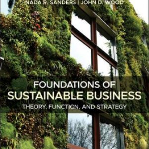 Solution Manual for Foundations of Sustainable Business: Theory, Function, and Strategy 2nd Edition Sanders