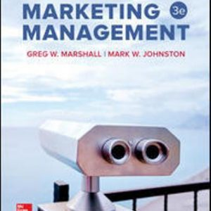 Solution Manual for Marketing Management 3rd Edition Marshall